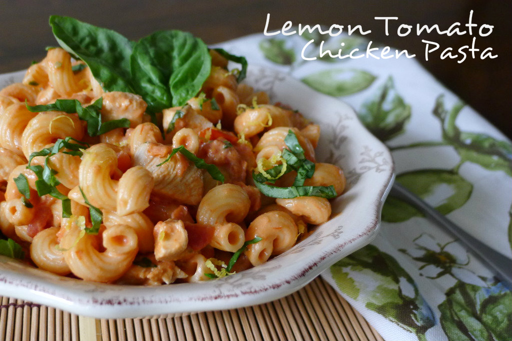 Lemon tomato chicken Pasta