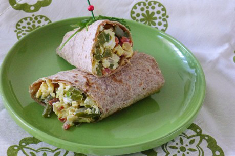 Pico De Gallo Cactus Breakfast Burrito