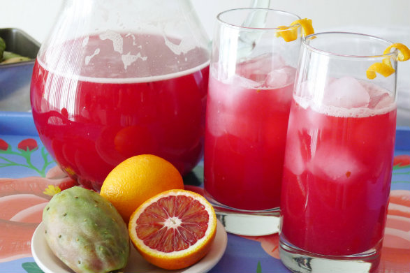 Prickly Pear Blood Orange Cooler