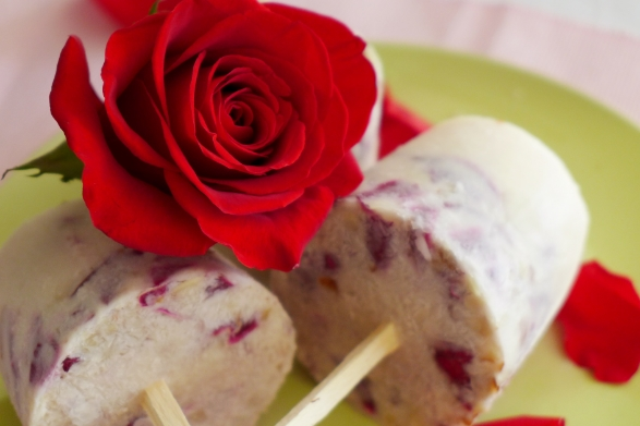 Rose Petal and Almond Paletas