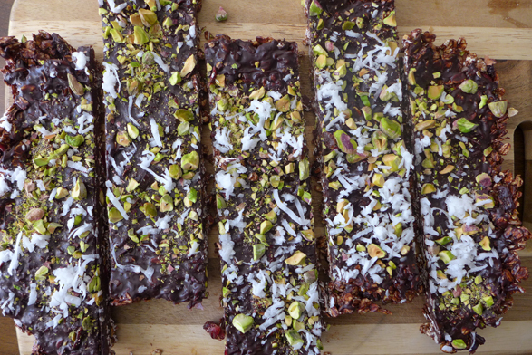 Muesli and chocolate bars