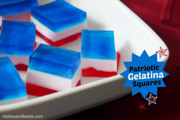 Patriotic Gelatin Squares