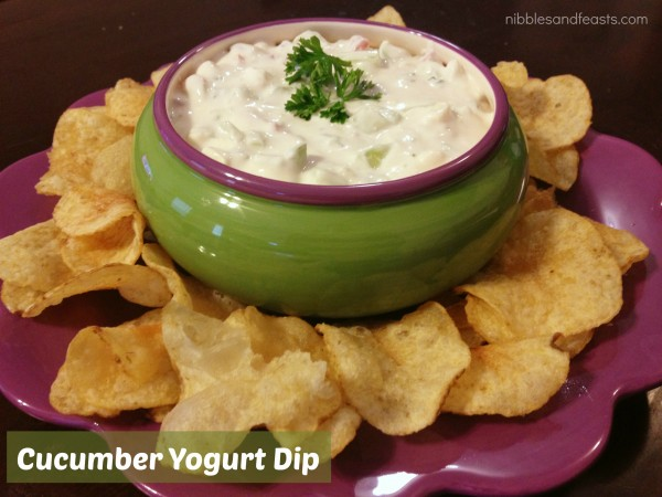 Cucumber Yogurt Dip #TheRealKettleChips - Nibbles and Feasts
