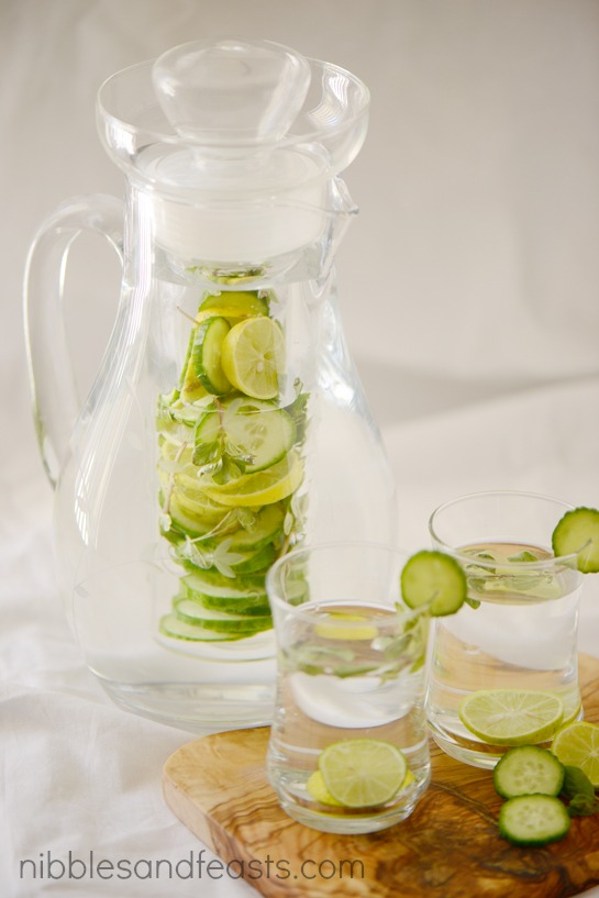 Persian Cucumber Marjoram Lime Infused Water