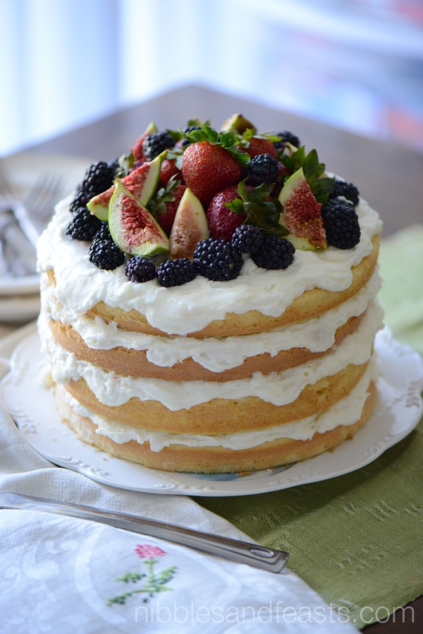 Naked Cake With Berries And Figs 187 Nibbles And Feasts
