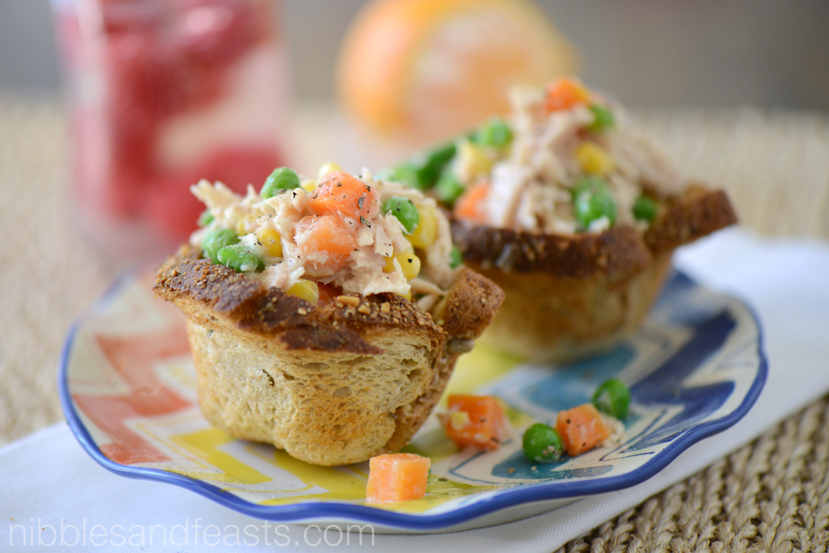 Tuna Salad Bread Cups