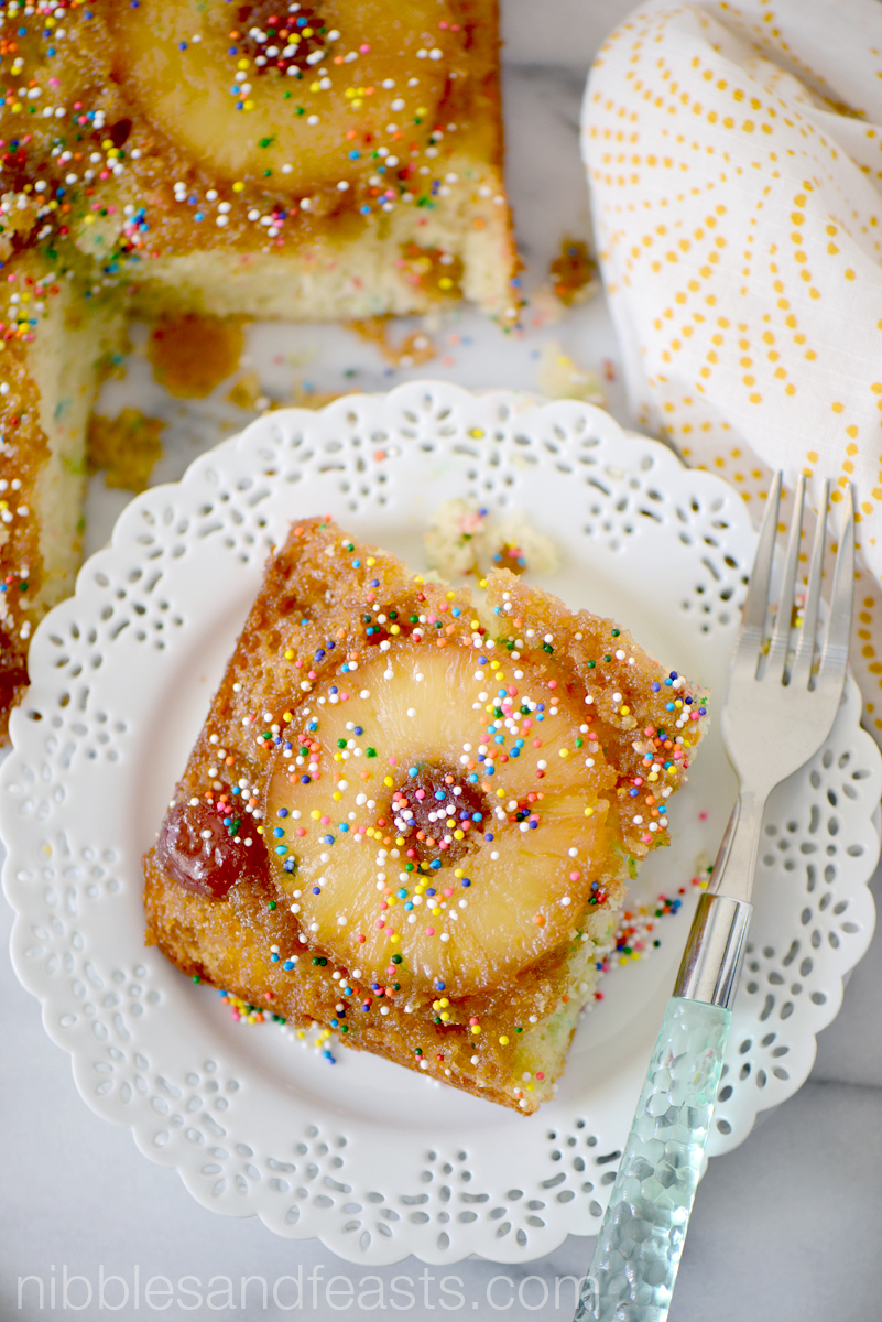 Pineapple Upside Down Birthday Cake