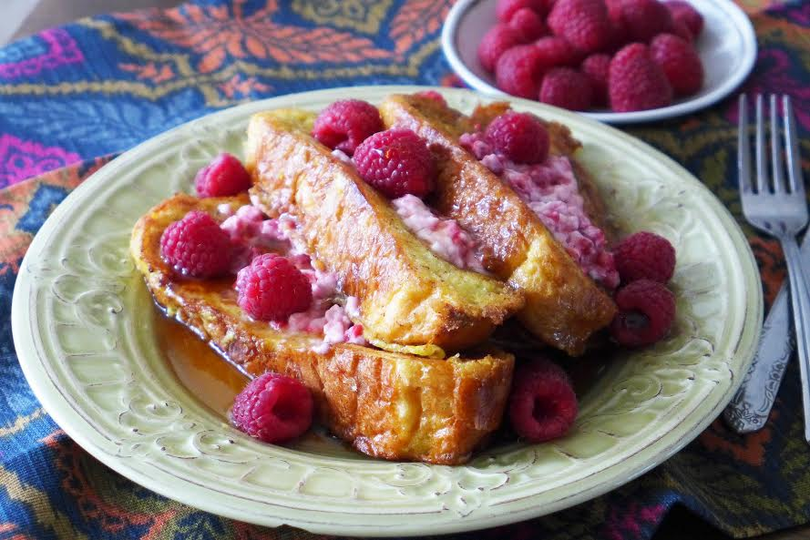 Fruity Cream Cheese French Toast