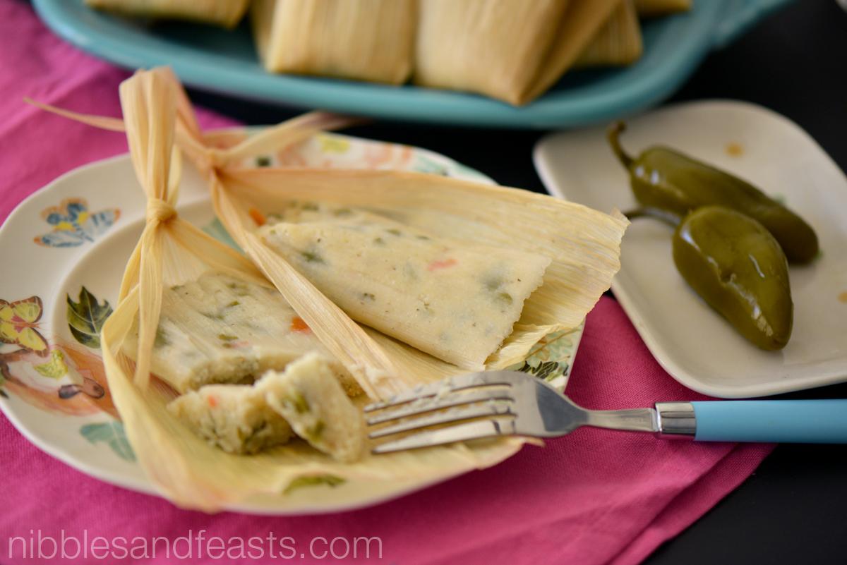 Tamales de Nopales y Jalapeños
