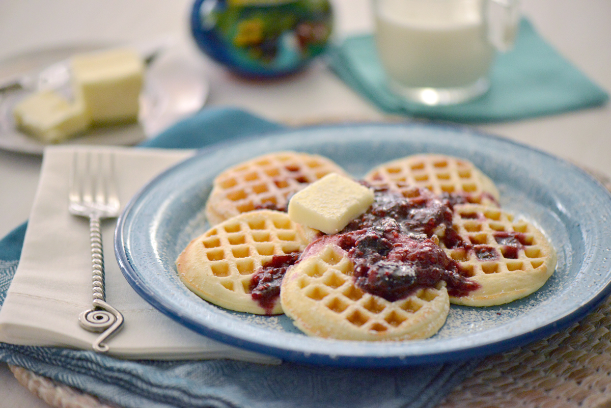 Very Berry Mini Waffles