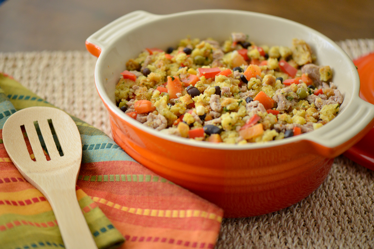 Southwest Cornbread Chicken Stuffing