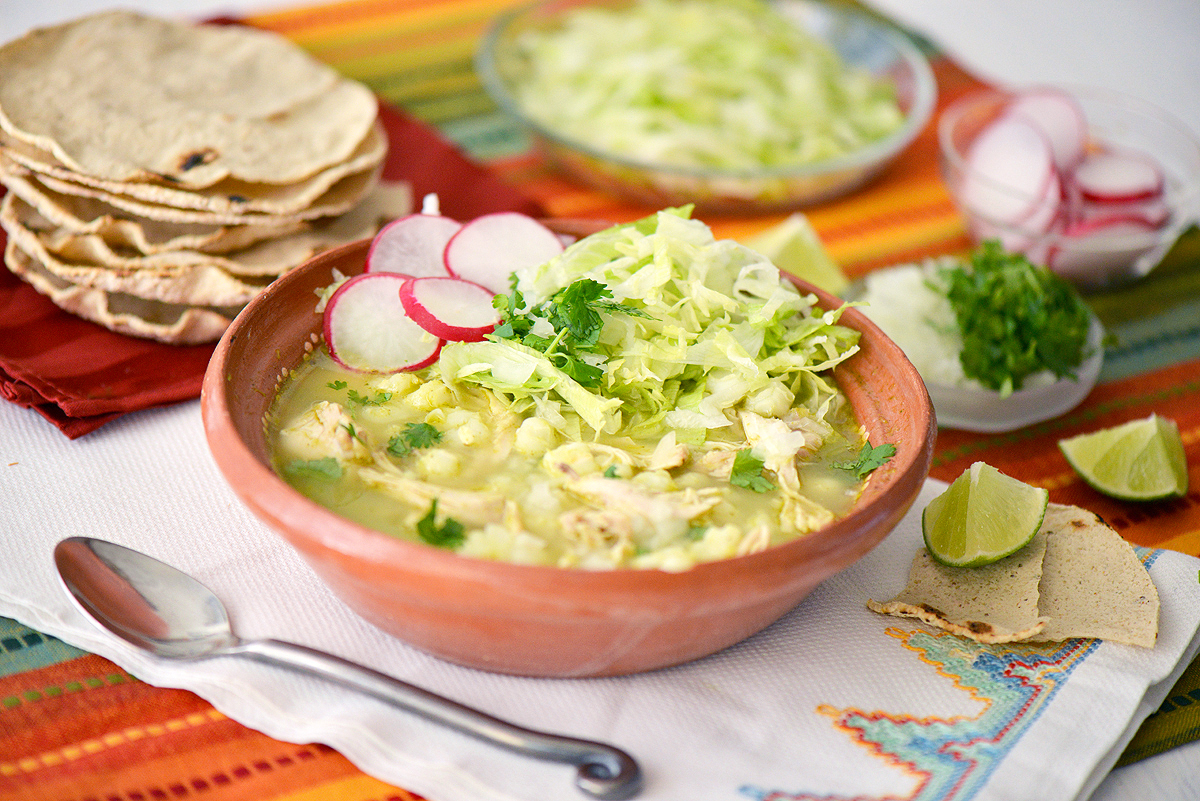 Green Pozole with Chicken (or Turkey) » Nibbles and Feasts