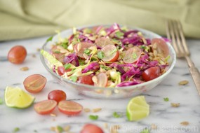 grape cabbage and sunflower seed salad