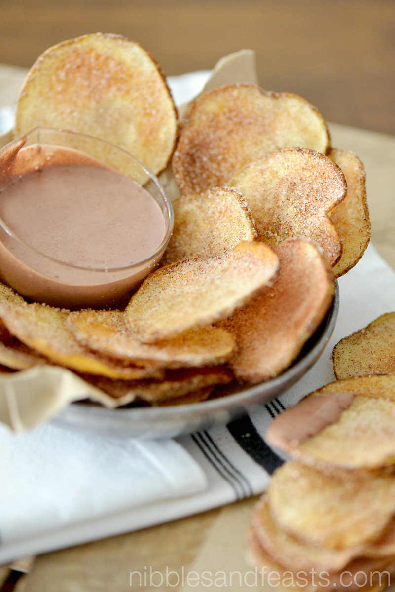 Churro Chips with Mexican Chocolate Crema