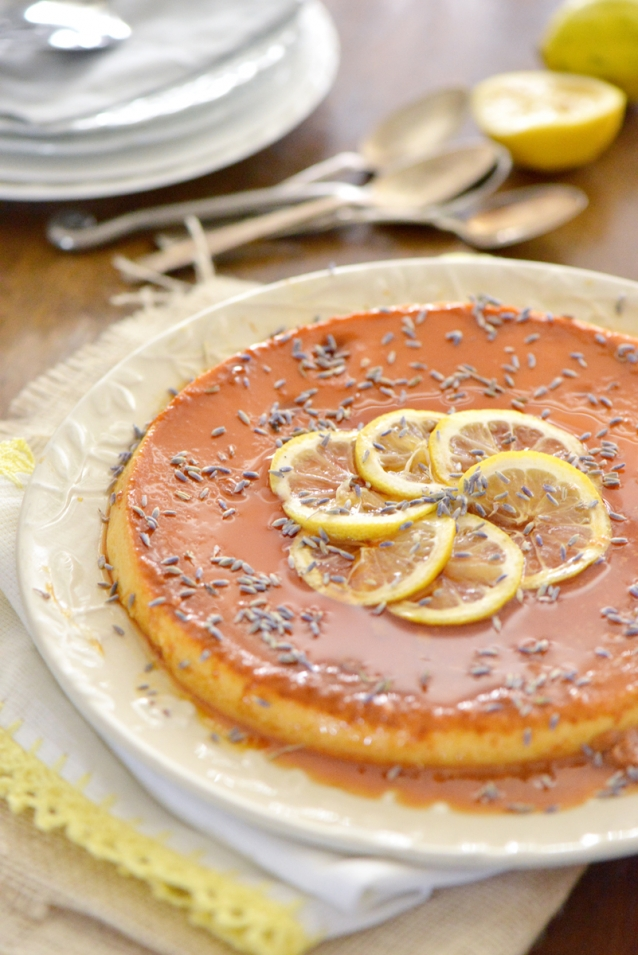 Lemon Lavender Flan » Nibbles and Feasts