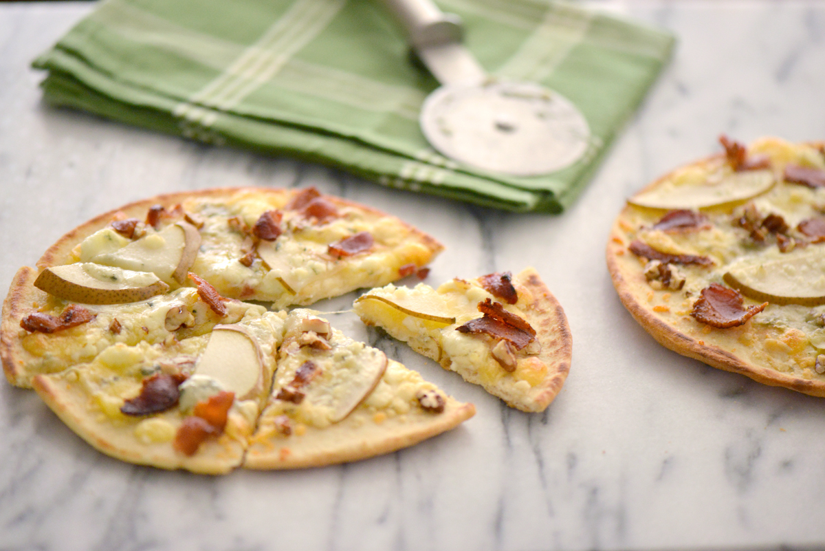 Bleu Cheese Pear Pizza with Bacon