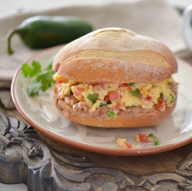 Breakfast Torta a la Mexicana » Nibbles and Feasts