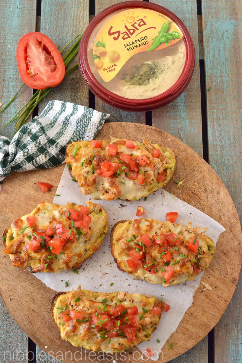 Jalapeño Hummus Crab Melts