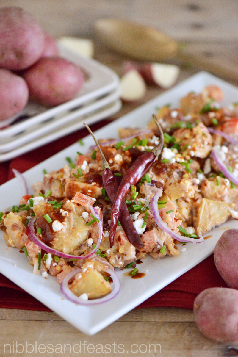 Spicy Red Chipotle Potato Salad