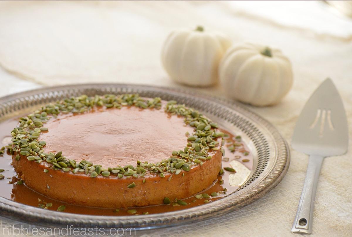 Dulce de Leche Pumpkin Flan » Nibbles and Feasts