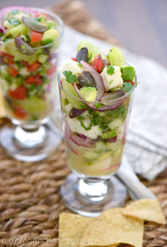 Fish Ceviche with Grapes