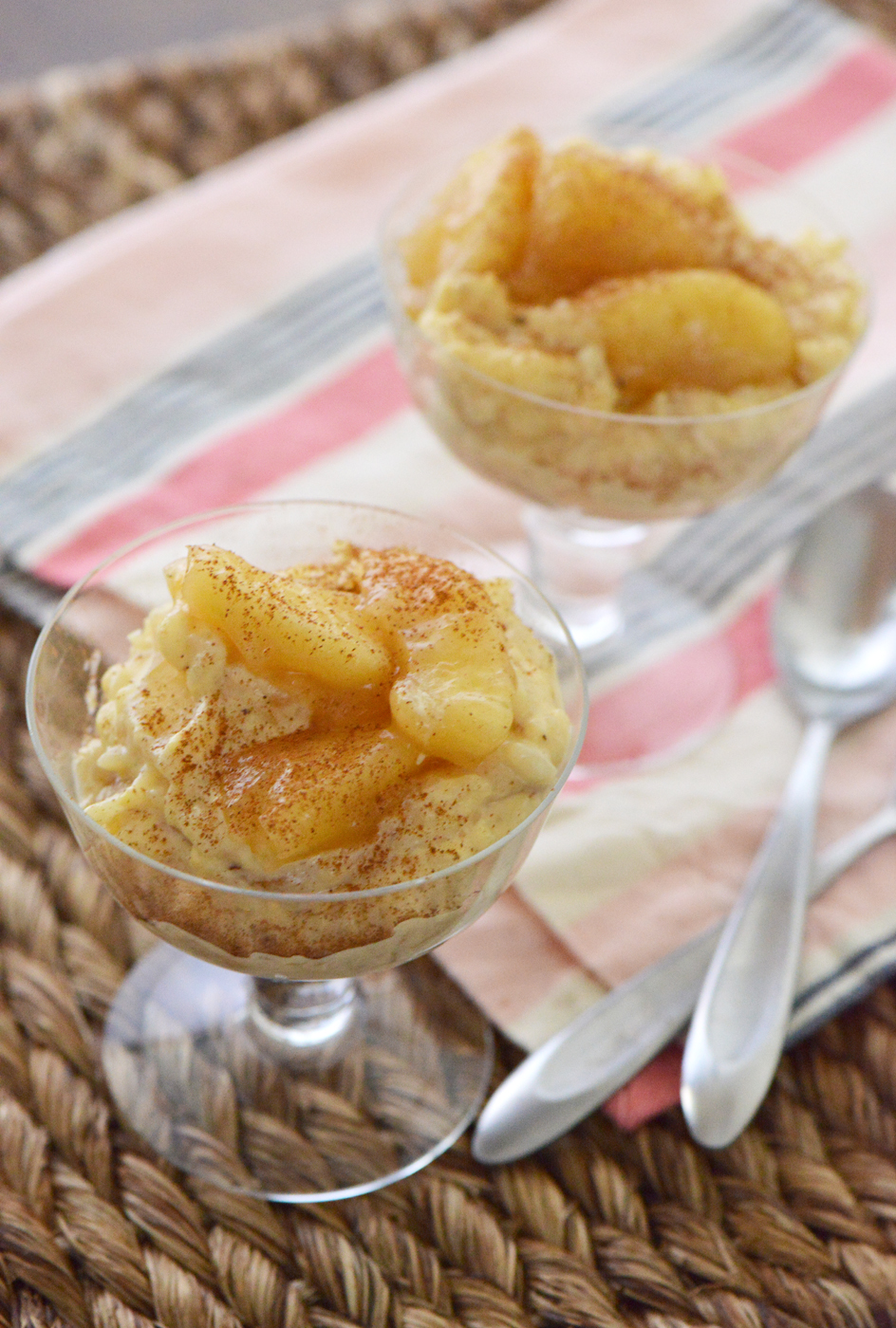 Arroz con Leche with Glazed Apples