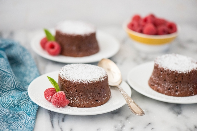 Mexican Chocolate Lava Cakes