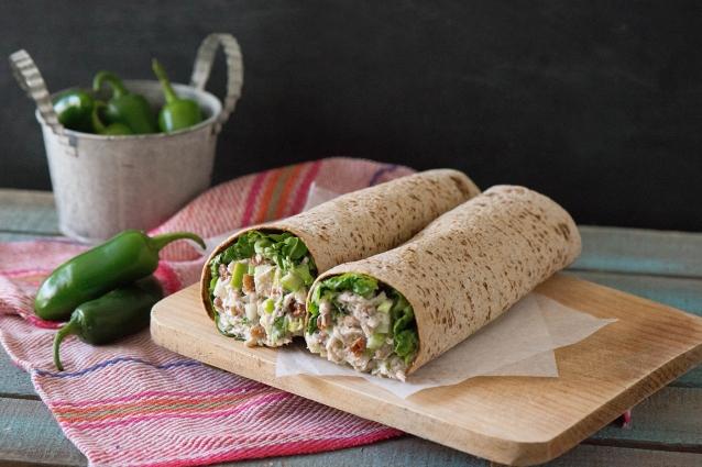 Mexican Turkey Salad Wrap