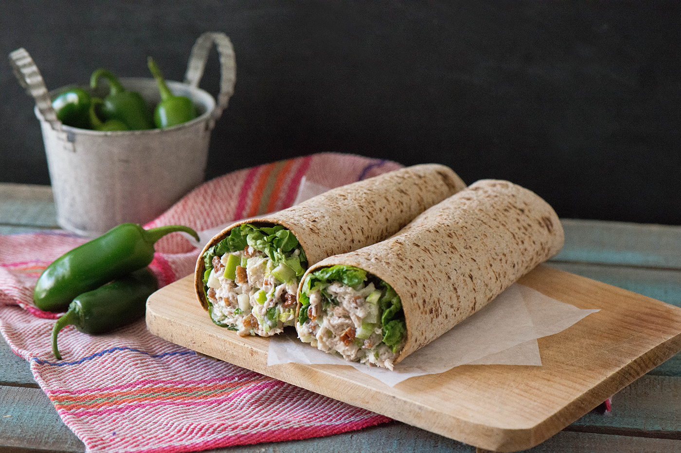Mexican Turkey Salad Wrap