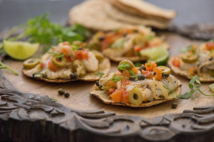 Veracruz Style Fish Tostadas