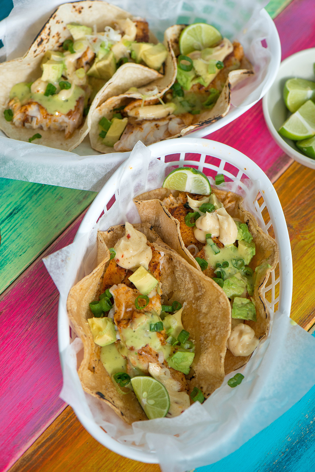 Grilled fish tacos with spicy mayo nibbles and feasts for Spicy fish tacos
