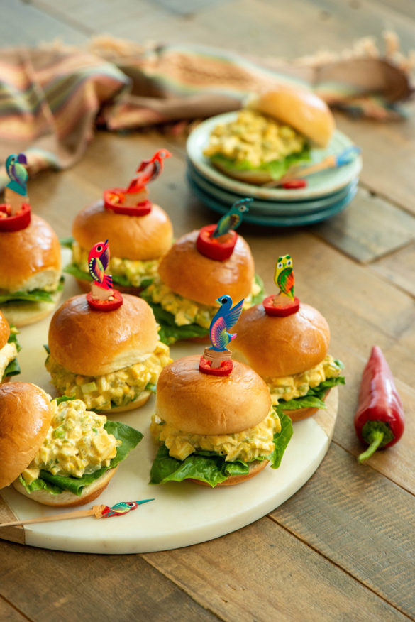 Egg Salad with Green Chile Sliders